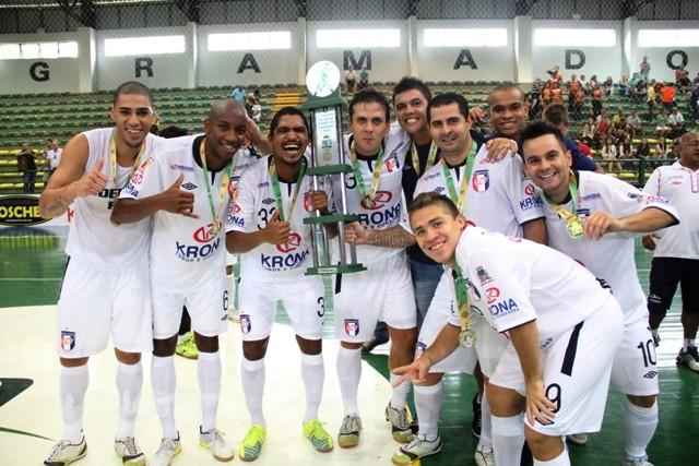 Joinville conquista a Copa Gramado de Futsal (Foto: Manolo Quiróz/Divulgação)