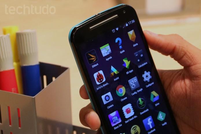 Moto G 2 tem tela de 5 polegadas (Foto: Isadora Díaz/TechTudo)
