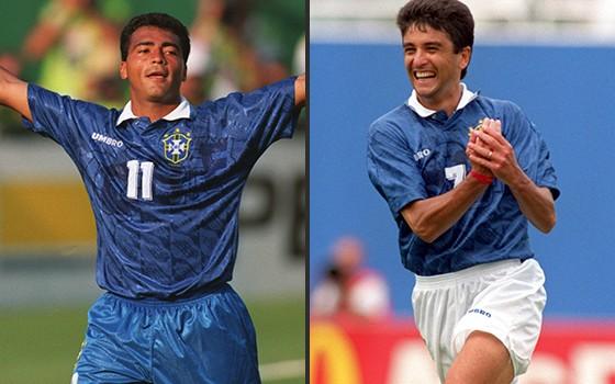 Os ex-jogadores Romário e Bebeto na Copa do Mundo de 1994 (Foto: Getty Images)
