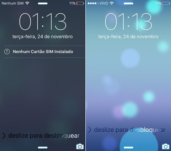 Pronto! Depois de inserir o Cartão SIM, o iPhone reconhece a operadora (Foto: Reprodução/Thiago Barros)