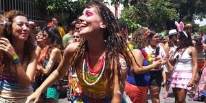 Mineiros mostram 'jeitinho' no carnaval de rua de Belo Horizonte (Tábata Poline / G1)