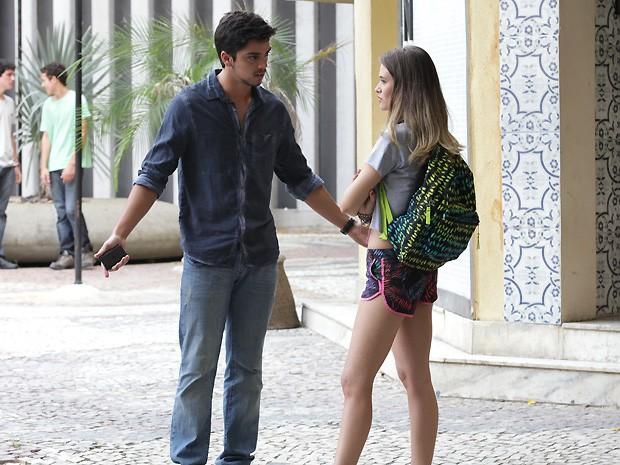 Será que o Bruno agiu certo? Ai, gente...! (Foto: Malhação / TV Globo)