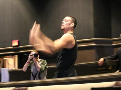 Nate Diaz; coletiva UFC 202 (Foto: Evelyn Rodrigues)