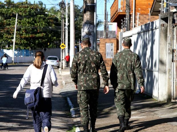 Exército encerrou atividades de combate à dengue em Itajaí nesta sexta (Foto: Victor Schneider/Divulgação)