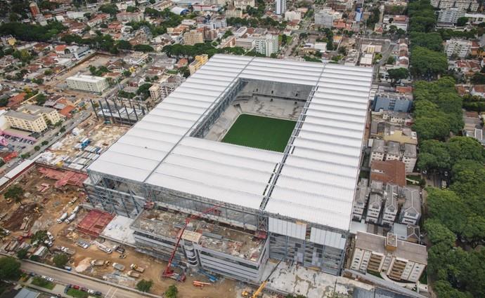 Visão geral da Arena da Baixada, estádio do Atlético-PR (Foto: Site oficial do Atlético-PR/Alexandre Carnieri/Studio Gaea)