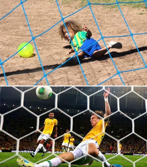 montagem davidluiiz New Pics: Tiny David Luiz (Chelsea) & Thiago Silva (PSG) doppelgängers get famous in Brazil