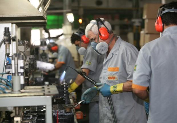 Produção industrial ; indústria ; PIB do Brasil ; crescimento econômico ; trabalhadores ; emprego ;  (Foto: Marcelo Camargo/Agência Brasil)