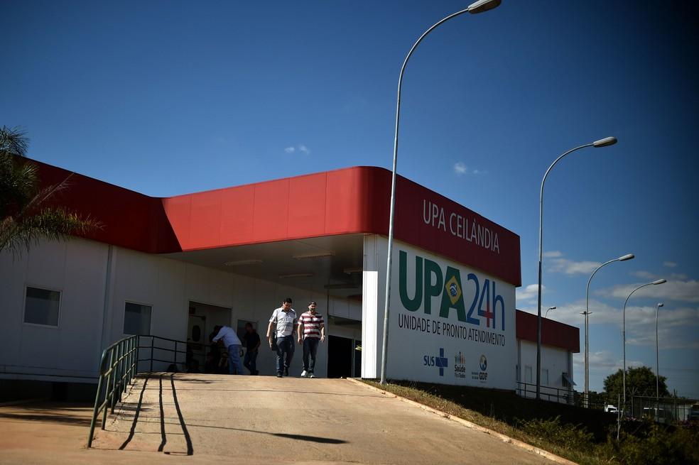 Fachada da UPA de Ceilândia, no Distrito Federal (Foto: Andre Borges/GDF/Divulgação)