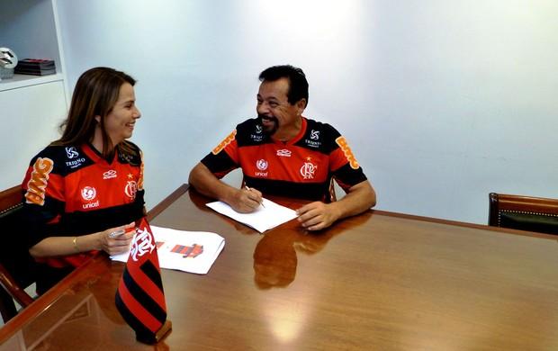 Flamengo -Patrícia Amorim e Jorge Luiz Rodrigues  (Foto: Vicente Seda /Globoesporte.com)