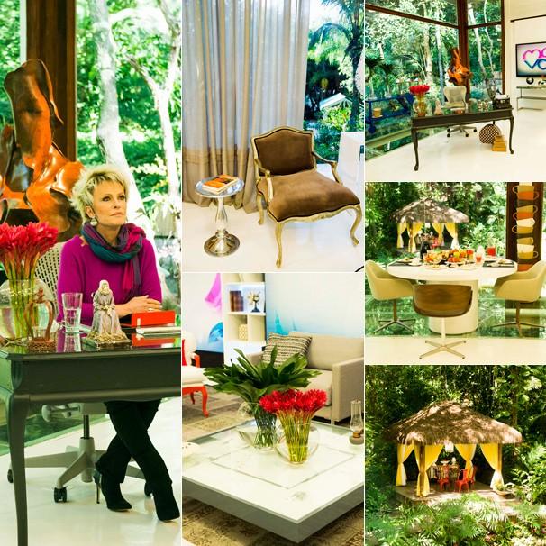 A Casa de Cristal do Mais Você foi redecorada pelo arquiteto Jairo de Sender (Foto: Globo)