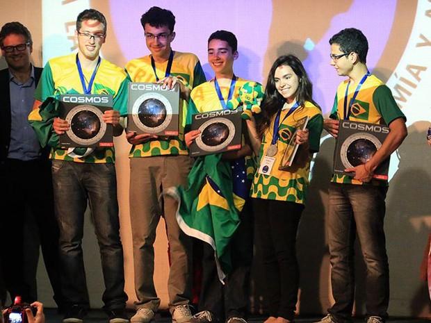 Delegação brasileira ganhou três medalhas de ouro e duas de prata (Foto: Júlio C. Klafke/Divulgação/OLAA)