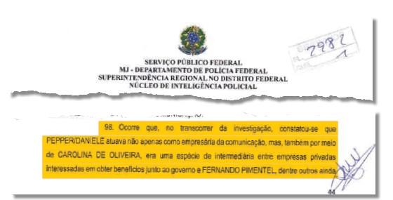 Documento apreendido pela Operação Acrônimo (Foto: Reprodução)