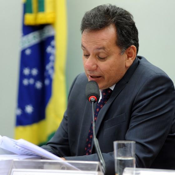 O deputado Nilson Leitão (PSDB-MT), durante reunião da CPI da Funai na Câmara (Foto: Billy Boss - Câmara dos Deputados)