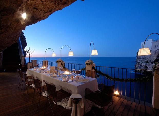 caverna-restaurante-polignano-mare-grotta-palazzese (Foto: Divulgação)