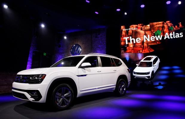 Volkswagen apresenta o SUV Atlas, que será produzido nos EUA (Foto: Brendan McDermid/Reuters)