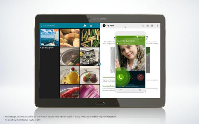 Galaxy Tab 10.5 S deve permitir que usuários atendam ligações sem precisar tocar no smartphone (Foto: Reprodução/SamMobile)