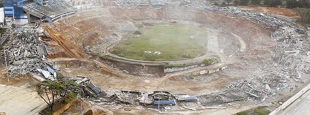 implosão do estádio Fonte Nova (Foto: Eduardo Martins / Ag. A TARDE )