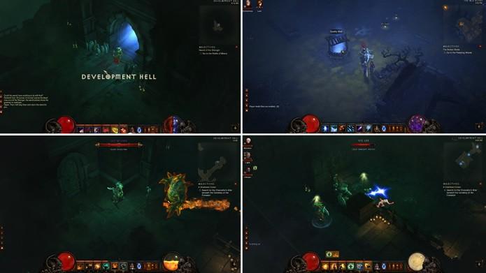 """Os estágios secretos """"Development Hell"""" e """"Quality Well"""" homenageiam equipes da Blizzard e desbloqueiam conquistas (Foto: Reprodução/Blizzard)"""