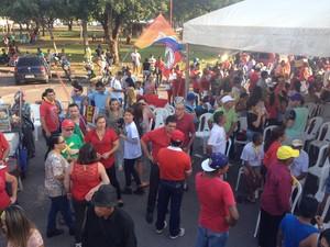 De acordo com a organização, movimento reuniu 1.200 pessoas na manifestação (Foto: Valéria Oliveira/G1)