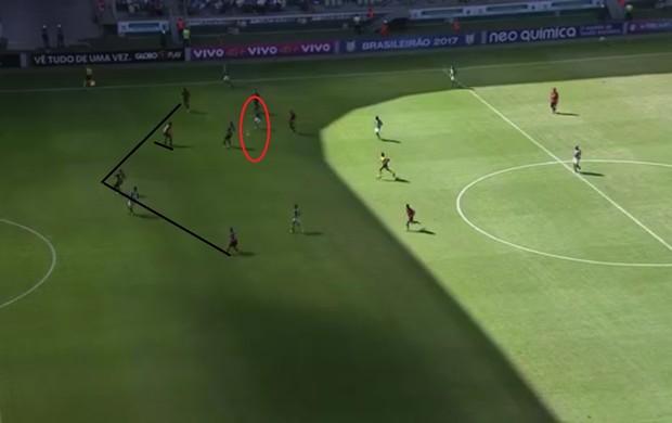 Falha do Vitória, gol do Palmeiras