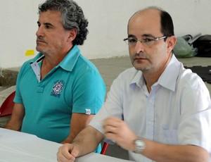 Diretor Antônio Miranda (à esquerda) e o presidente Fahin Youssef Neto Francana (Foto: João Fagiolo / Globoesporte.com)