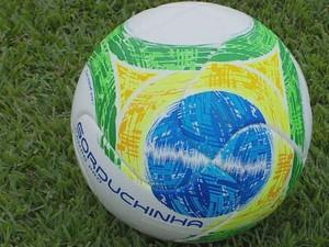 Elenco do Boa Esporte já treina com a gorduchinha (Foto: Reprodução EPTV)