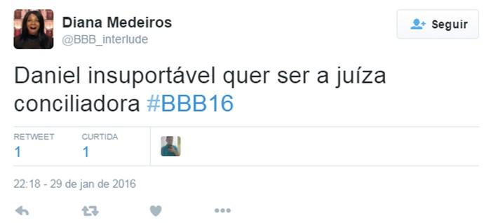 Twitter 2 madrugada casa 30_01 (Foto: TV Globo)