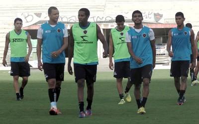 Treino do Botafogo-PB no Estádio Almeidão (Foto: Divulgação / Botafogo-PB)