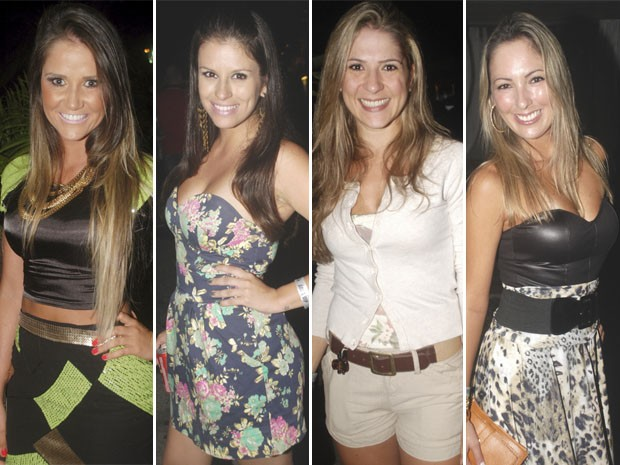 Belas mulheres estiveram no show de Jorge & Mateus, sábado (29), em Florianópolis (Foto: Montagem sob fotos de Marco Cezar e Laura Sacchetti / Divulgação)