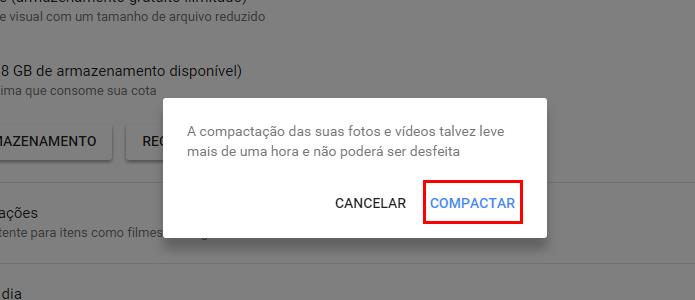 Confirme a compactação (Foto: Reprodução/Paulo Alves)