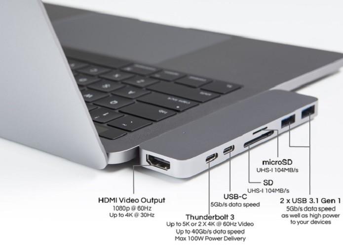 HyperDrive adiciona mais portas ao MacBook Pro (Foto: Divulgação/Kickstarter)