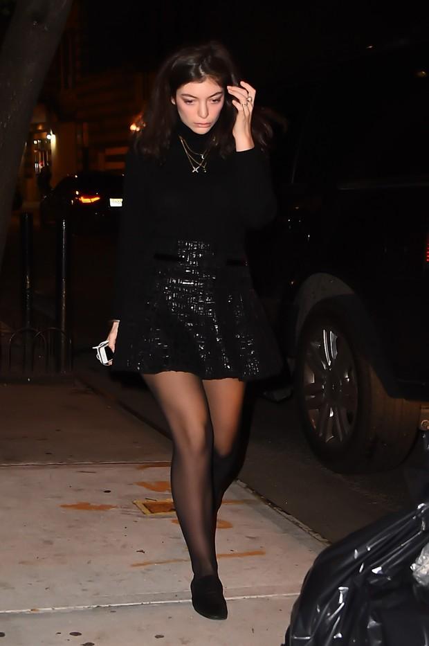 Lorde em Nova York, nos Estados Unidos (Foto: AKM-GSI/ Agência)