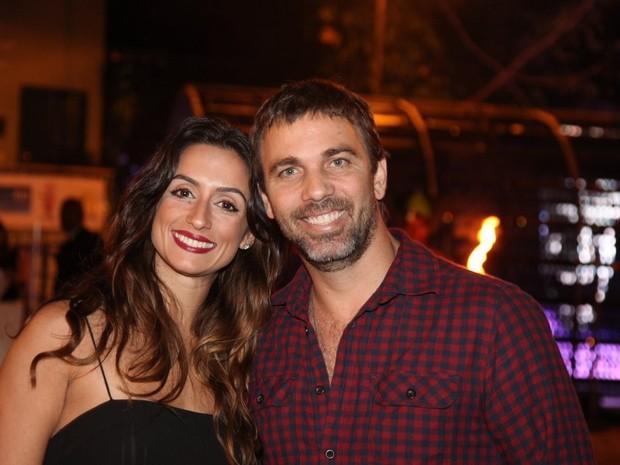 Marcelo Faria e a mulher, Camila Lucciola, em festa na Zona Sul do Rio (Foto: Claudio Andrade/ Foto Rio News)