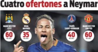 Jornal: rivais de Manchester oferecem os salários mais altos a Neymar (Reprodução / Sport)