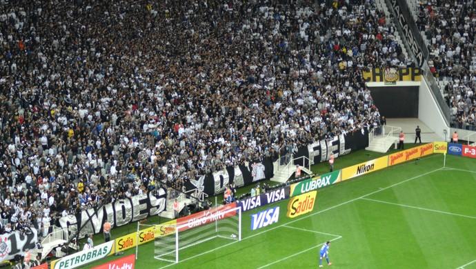 Torcida Corinthians x Bragantino Arena Corinthians (Foto: Filipe Rodrigues)