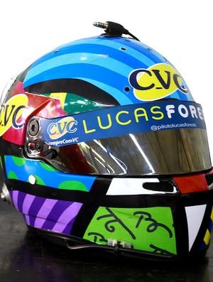 Capacete de Lucas Foresti para a Corrida do Milhão
