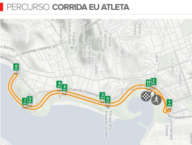 euatleta info Percurso corrida Eu Atleta 10K Rio (Foto: Editoria de Arte / Globoesporte.com)