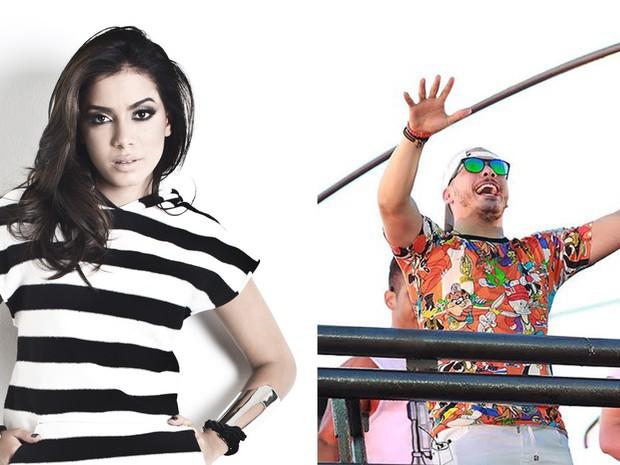 Anitta e Wesley Safadão são atrações esperadas para os dias de festa (Foto: Arte/ G1)