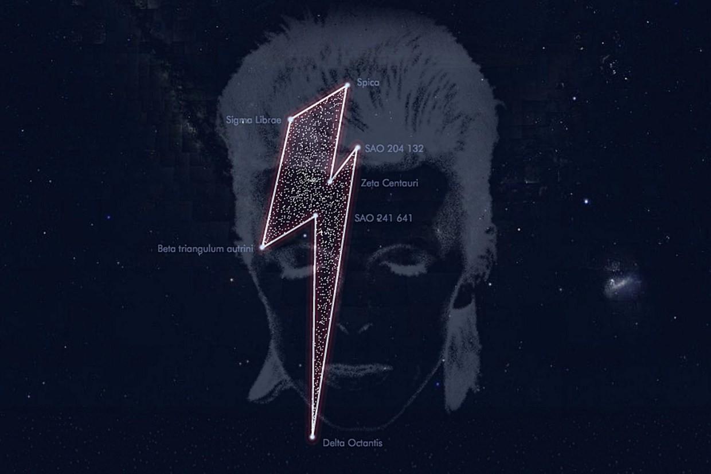 """A """"constelação de Bowie"""" não foi registrada oficialmente (Foto: StardustforBowie.be)"""