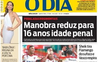 """Fla tem mais destaque que Vasco em jornais e Rizek questiona: """"Por quê?"""""""