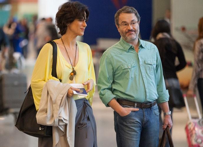 Leonardo Medeiros e Mariana Lima (Foto: Fabiano Battaglin/Gshow)