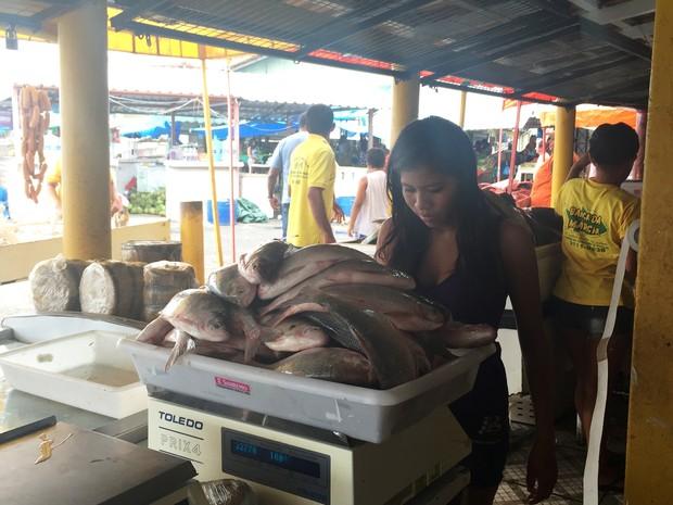 Quilo do peixe varia de R$ 6 à R$ 71,40 em Boa Vista  (Foto: Inaê Brandão/ G1 RR)