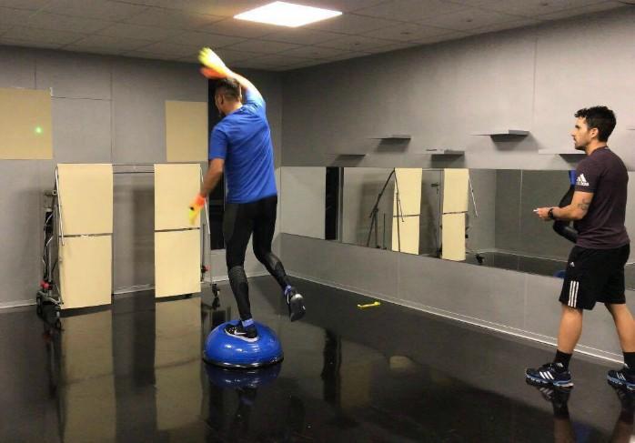 Diego Alves Valencia treinamento laser