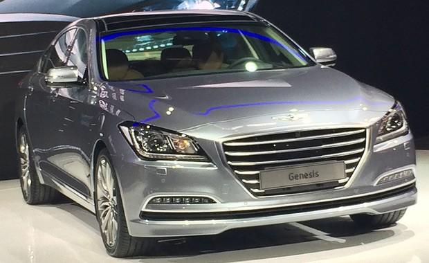 Hyundai Genesis no Salão de Pequim (Foto: Guilherme Blanco Muniz/Autoesporte)