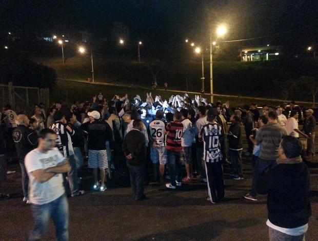 Tupi x Aparecidense tumulto  (Foto: Rafaela Borges)