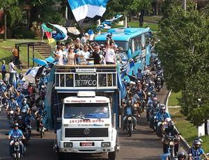 torcida Grêmio carreata festa novo estádio (Foto: Alexandre Alliatti / Globoesporte.com)