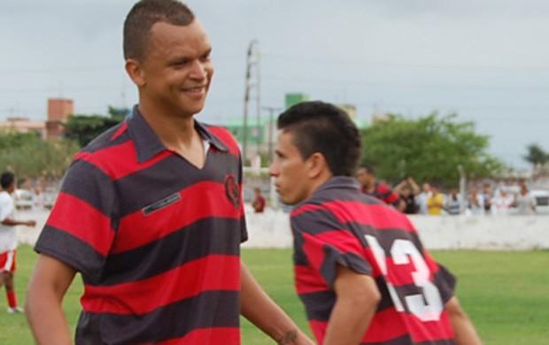 Warley e Potita, dupla de ataque do Campinense (Foto: Cadu Vieira)