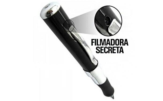 2cb58acd9355a Caneta tem filmadora embutida e tem bateria recarregável (Foto  Divulgação  AlbaEletronicos)