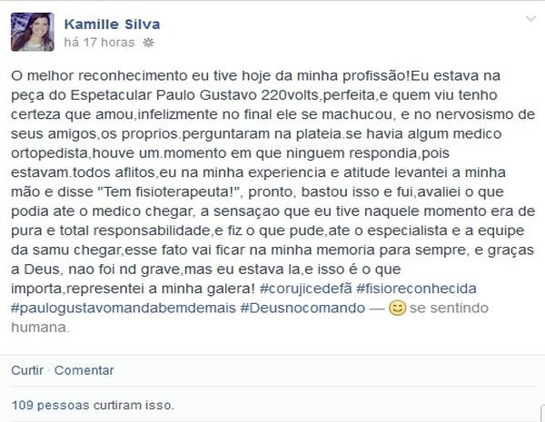 Extremamente G1 - Fisioterapeuta conta como ajudou ator Paulo Gustavo após  EP01