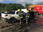 Um adulto e duas crianças morrem em acidente em Ponte Serrada, em SC